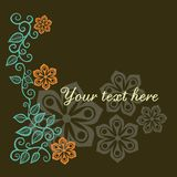 Floral greeting card with place for your text. Stock Photography