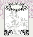 Floral greeting card template Stock Photo