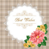 Floral greeting card template Royalty Free Stock Images