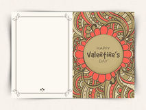 Floral greeting card for Valentine's Day celebration. Stock Photo