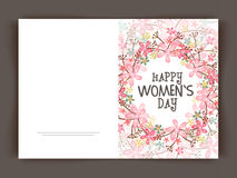 Floral greeting card for Women's Day celebration. royalty free illustration