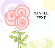 Floral greeting. vector. Vector illustration - simple floral greeting Royalty Free Stock Image
