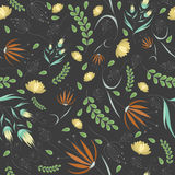 Floral grey pattern Royalty Free Stock Image