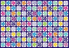 Floral grid Royalty Free Stock Images