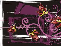 floral grunge ανασκόπησης Στοκ φωτογραφίες με δικαίωμα ελεύθερης χρήσης