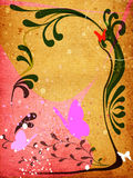 floral grunge σχεδίου Στοκ εικόνες με δικαίωμα ελεύθερης χρήσης
