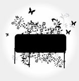 Floral grunge. Banner, illustration background Stock Photography