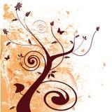 Floral Grunge. Floral design with grunge elements vector illustration