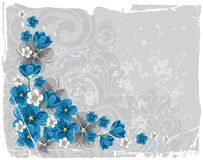 Floral grunge background Stock Photo