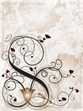Floral grunge background. With spirals Royalty Free Stock Images