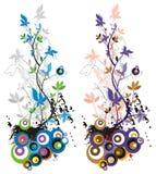 Floral grunge background Stock Images