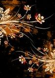 Floral grunge background royalty free illustration