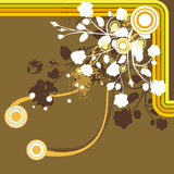 Floral grunge background. Floral grunge  background in brown, orange, yellow and white colors Royalty Free Stock Photography