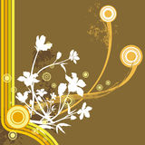 Floral grunge background. Floral grunge  background in brown, orange, yellow and white colors Royalty Free Stock Photos