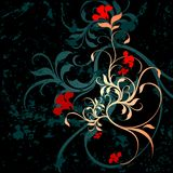 Floral grunge background. Illustration Royalty Free Stock Photography