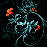 Floral grunge background. Vector illustration Royalty Free Stock Photography