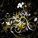 Floral grunge background. Vector illustration Stock Photography