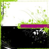 Floral grunge background. With branches and frame for text Stock Image