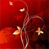 Floral grunge background. Vector illustration Stock Photos