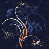 Floral grunge background. Vector illustration Stock Photo