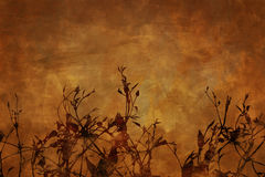 Floral grunge background. Warm butterscotch and brown colors Vector Illustration