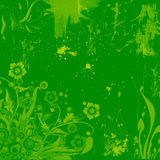 Floral grunge background. Green floral grunge background with texture and grain Vector Illustration