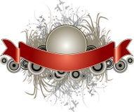 Floral Grunge Banner Stock Images