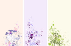 Floral grunge banners Royalty Free Stock Photo