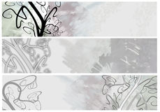Floral  Grunge  Banners or headers Royalty Free Stock Image
