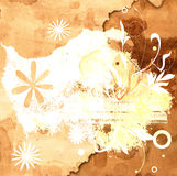 Floral grunge design Royalty Free Stock Images
