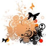 Floral grunge design Stock Image