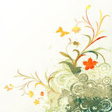 Floral grunge design stock illustration