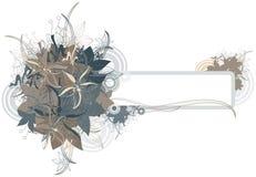 Floral grunge frame Stock Images
