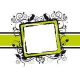 Floral grunge frame Royalty Free Stock Image