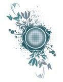 Floral Grunge Frame Series royalty free illustration