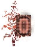 Floral Grunge Frame Series Stock Photos