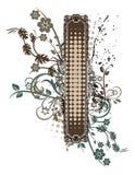 Floral Grunge Frame Series Stock Photo