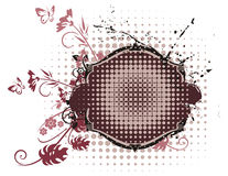 Floral Grunge Frame Series Stock Photography