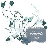 Floral grunge frame series Stock Image