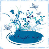 Floral grunge frame series stock images