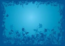 Floral grunge frame, vector Stock Image