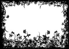 Floral grunge frame, vector Stock Photography
