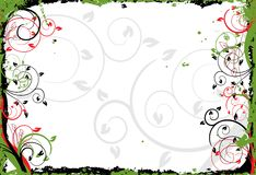 Floral grunge frame, vector Royalty Free Stock Photos