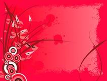 floral grunge red 库存照片
