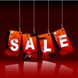 Floral Grunge Sale Labels Stock Photos