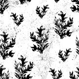 Floral grunge seamless texture. Stock Images