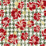 Floral grunge wallpaper Stock Image