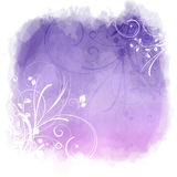 Floral grunge watercolor background Royalty Free Stock Photography