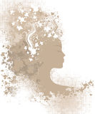 Floral grunge woman Royalty Free Stock Photography