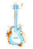 Floral guitar Royalty Free Stock Photography